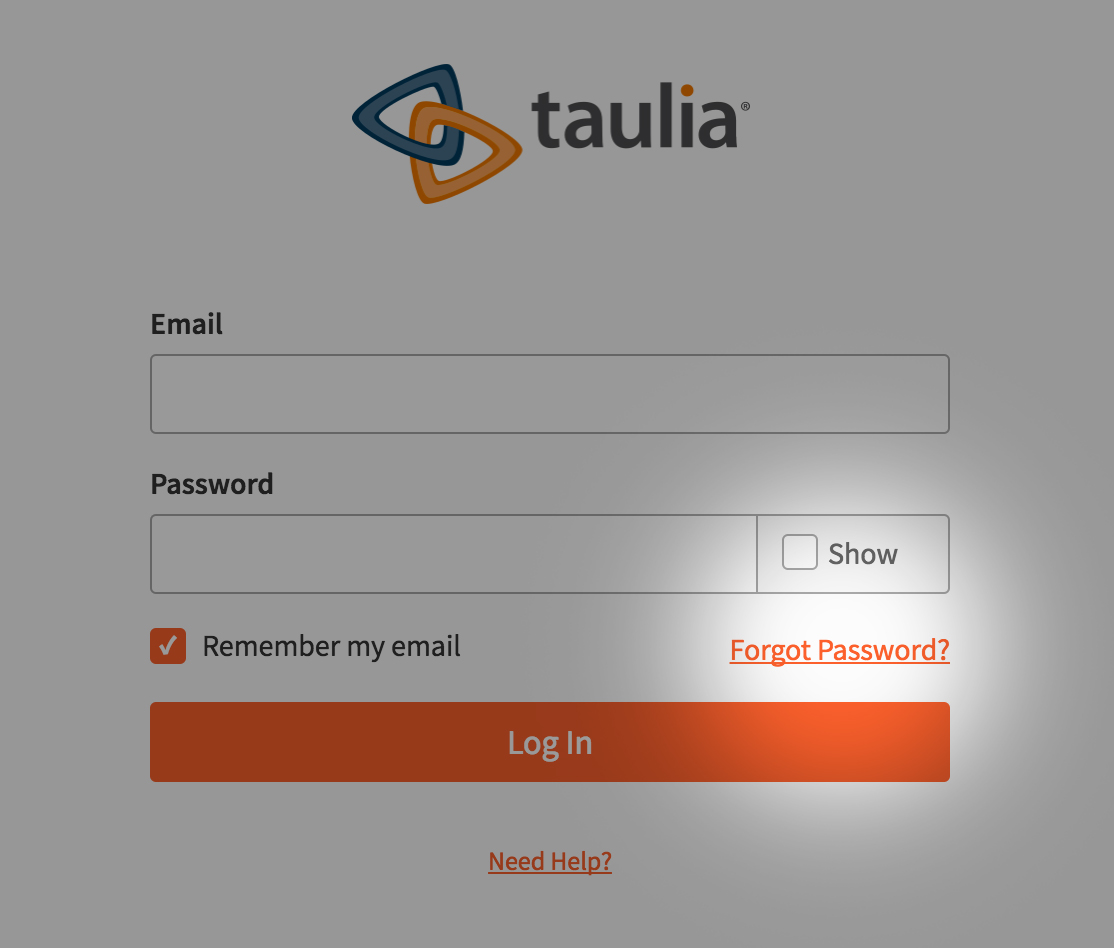 Taulia Support - Q  My account is locked  How do I reset my
