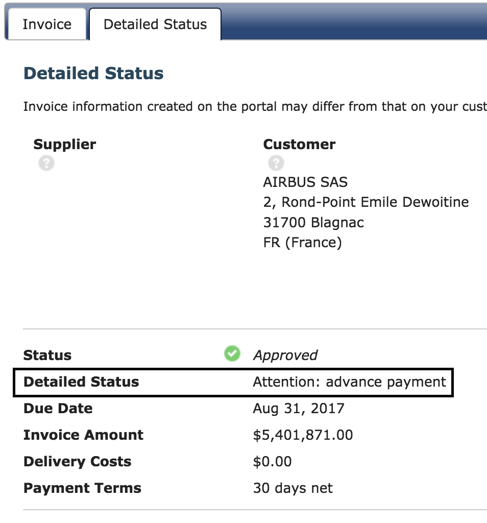 Taulia Support Airbus What Does Original Invoice Amount Mean - What does invoice mean